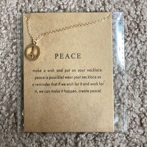 Peace Dainty Necklace
